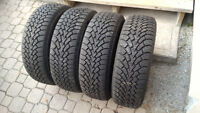 Like new Goodyear Nordic Winter 215/60R16 tires / wheels