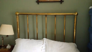 Antique Brass Bed- Frame and Springs (Bedding Included)