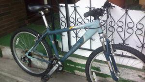 3 mountain bikes.