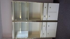 Biege/Gold Lightup Wall Unit