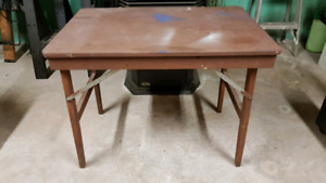 Solid Wood Folding Table
