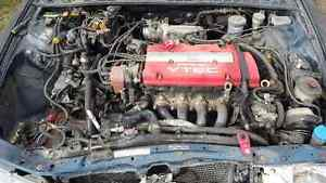 95 honda prelude motor and parts car.   -REDUCED- $$$500.00