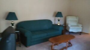 Bed Chesterfield and Wing back chair Cornwall Ontario image 1