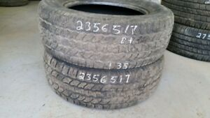 Pair of 2 Starfire SF510 235/65R17 tires (55% tread life)