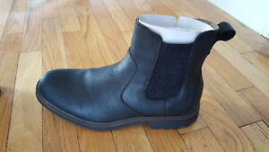 Brand New Mens Black Leather Chelsea Boots
