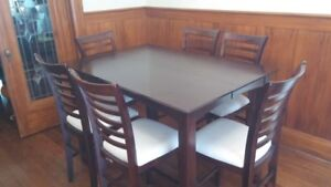Pub height dining table for 8