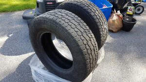 2 Used Toyo A/T Tires 265 70 R18