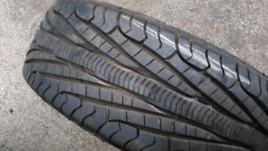 Four rims and tires with 90+ tread tires in good shape cheap