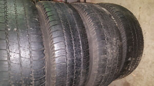 Set of 4 Jeep rims with Goodyear tires Windsor Region Ontario image 2