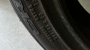 245/45R20 continental cross contact x2