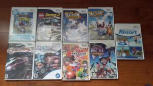 8 x jeux Nintendo Wii