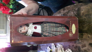 COLLECTABLE PORCELAIN DOLL- NEW, IN BOX
