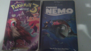 VHS Disney and pokemon