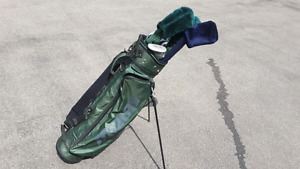 Adult Golf clubs and bag; new spare bag