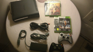 XBOX 360 BUNDLE! 4 GAMES| 2 CONTROLLERS ETC