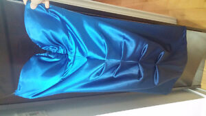 Le Chateau Semi-formal blue strapless dress