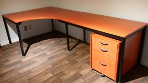 Ikea desk with filing cabinet