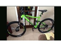 "VOODOO ZOBOP IN GREEN FULL SUSPENSION SIZE 18"" bike"