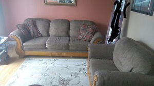Light brown Sofa and Chair for sale...