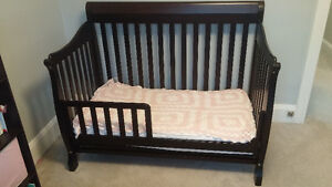 Crib Convertible 4 in 1 Solid Wood Canadian Made Espresso finish