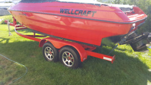 Bateau wellcraft open deck