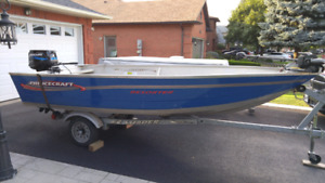 2004 Princecraft deep and wide 16' fishing boat