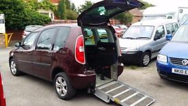 2011 Skoda Roomster SE Wheelchair Disabled Accessible Vehicle
