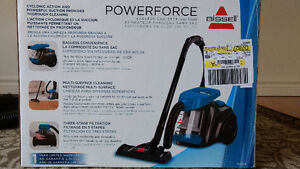1 month old Bissell Powerforce bagless canister vacuum