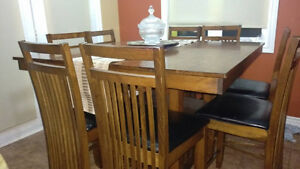 Dining Table with 8 high chairs