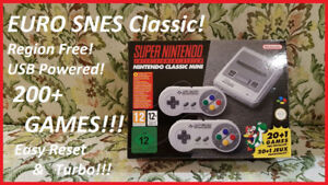 EU SNES Classic Mini PRO MODDED w/200+ Games!!!  $200!!!