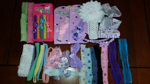 Bag of baby girl headbands