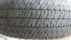 2 used all season truck tires. Michelin LT275/70R18 50%left $100