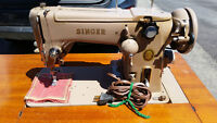 Vintage 1956 Singer Swing Needle Tan Sewing Machine Model 306K