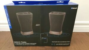 BRAND NEW BLUETOOTH DISCO TWIN STEREO SPEAKERS $40