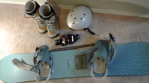 Burton Board, Burton Boots, Goggles, Helmut and bag all for $250