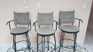 3 bertolony swivel bar stools Windsor Region Ontario image 1