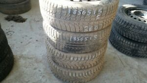 Set of 4 Michelin Xice & Sailun (on rims) 185/65R15 WINTER tires
