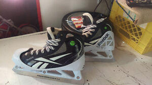Adult goalie gear , barely used