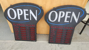 TWO OPEN SIGNS