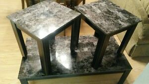 Coffee table plus matching side tables