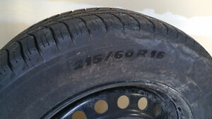 Like NEW!  Four Michelin X-Ice 3 winter tires on Ford rims Kitchener / Waterloo Kitchener Area image 1