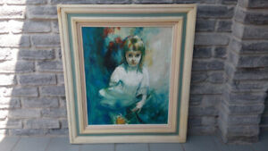 Oil Painting Portrait of a Girl Original Artwork
