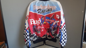 BUDWEISER RACING INDY XL COAT- REALLY NEAT! RARE & NEW!