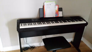 Casio Compact Digital Piano with Pedal, Bench & Stand