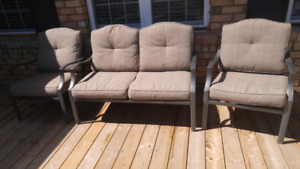 SOLD PPU 3 pc. Conversation Patio Set with cushions