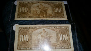 1937 100$ bill canadian. in great condition for the year!!!!!!!! London Ontario image 2