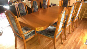 Oak dining suite for sale Prince George British Columbia image 2