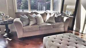 Beige Fabric Sofa - FREE DELIVERY!