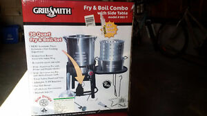 GrillSmith Barbecue Classics Complete Fry and Boil Combo Cooker