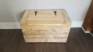 Hand crafted storage chest/trunk.